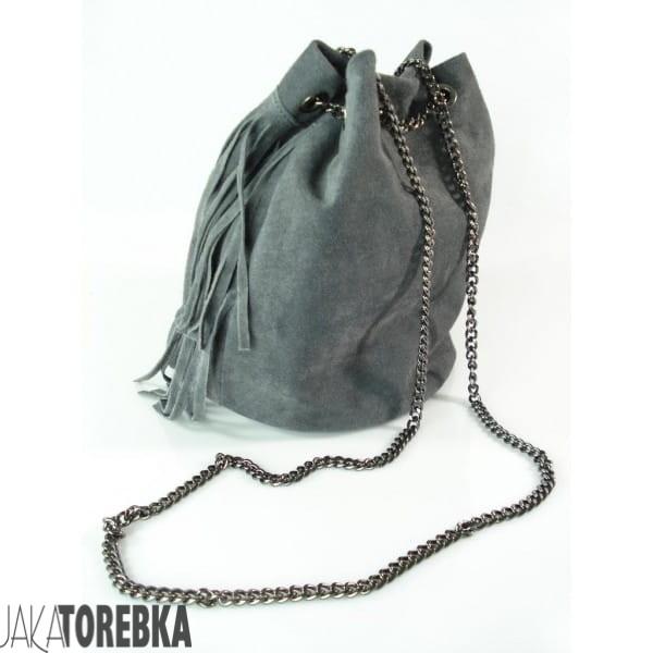 3ec0f39e99959 ... szara-wloska-torebka-zamszowy-worek-vera-pelle-torba- ...