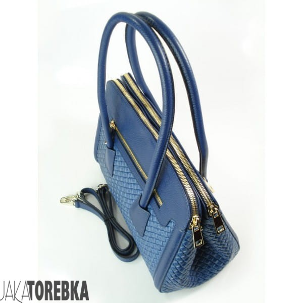 e05df4a742df1 Elegancka skórzana torebka Vera Pelle Blue Jeans - JakaTorebka.pl