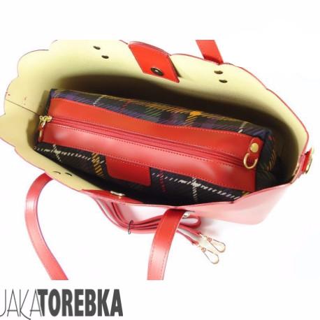 042cc4db47dc7 Torebka Włoska Skóra Shopper Bag Czerwona - JakaTorebka.pl