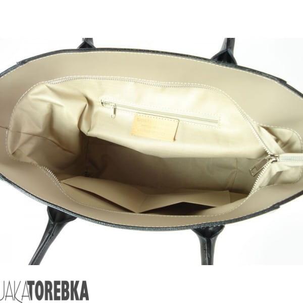 e916502ca6e46 Włoska Skórzana Torebka Łódka Jasno Beżowa Nowość! - JakaTorebka.pl