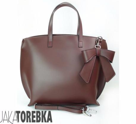 60ca2eb9aa5a4 bordowa-wloska-torebka-kokarda-a4-shopper-bag-skora- ...