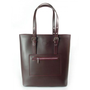 Bordo - Duża Włoska Torba  Shopper Bag  Zarka A4