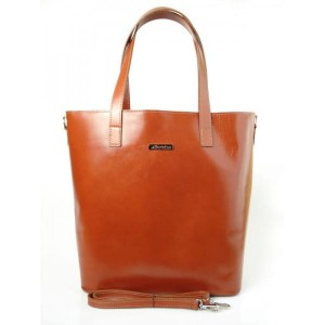 WŁOSKA TORBA SHOPPER BAG CAMEL