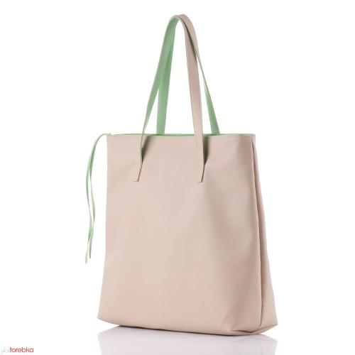 375d97be70a18 Beżowa Torebka Shopper Bag Verona - JakaTorebka.pl