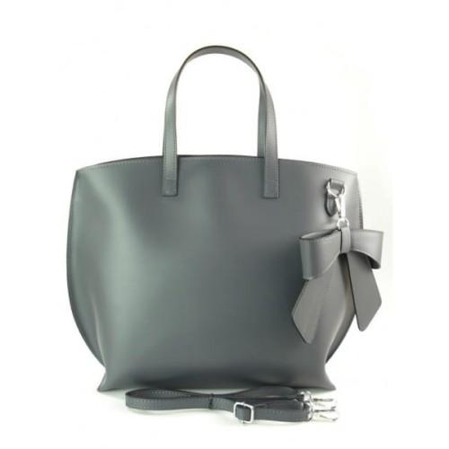 c54da06b778dc Włoska torba A4 Shopper Bag Vera Pelle Szara grafit SB689G1.  765931149dec4c2a301770e60c196712